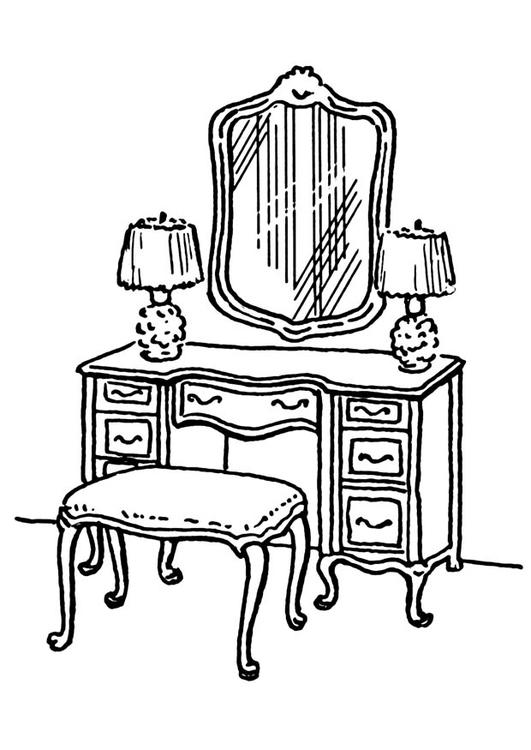 Coloriage table de toilette img 18890 - Coloriage table ...