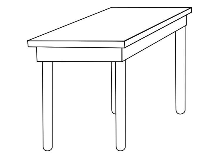 Table dessin - Coloriage table ...