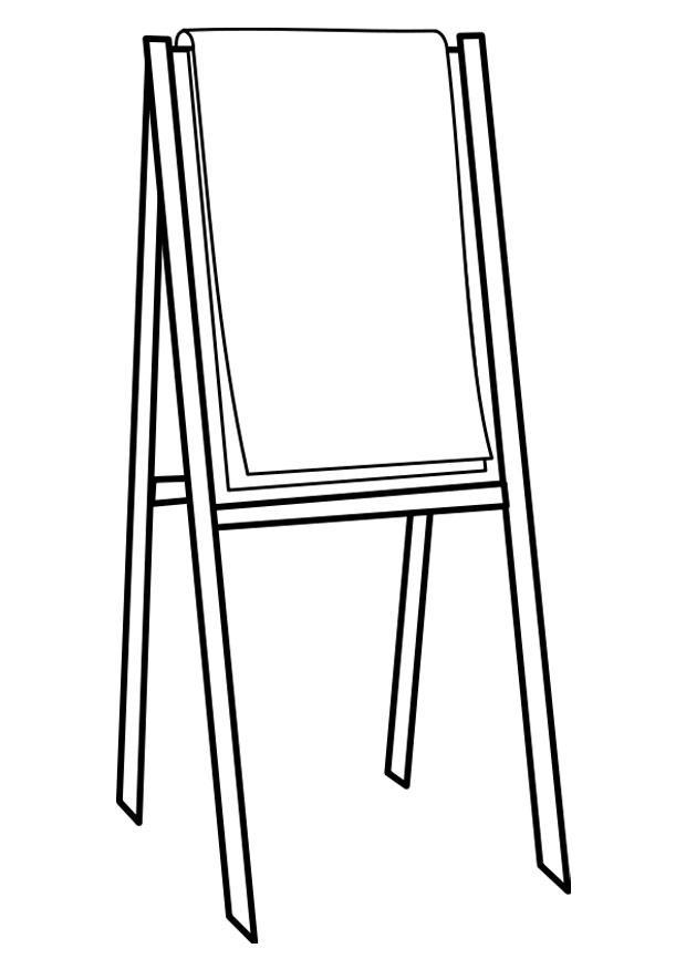 Coloriage tableau de conférence - Coloriages Gratuits à Imprimer
