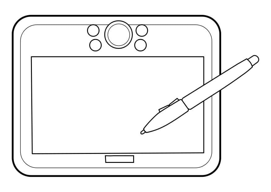 coloriage tablette dessin img 22851. Black Bedroom Furniture Sets. Home Design Ideas