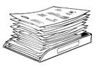 Coloriage tas de papiers