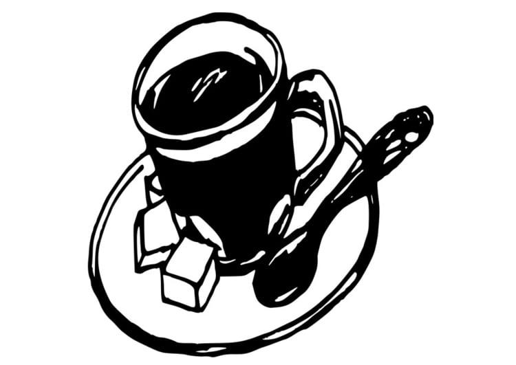 Coloriage tasse de caf img 19098 - Dessin tasse a cafe ...
