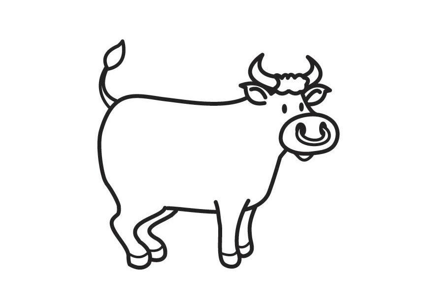 Coloriage Animaux Taureau.Coloriage Taureau Img 17768