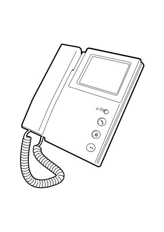 Coloriage Telephone.Coloriage Telephone Img 28293