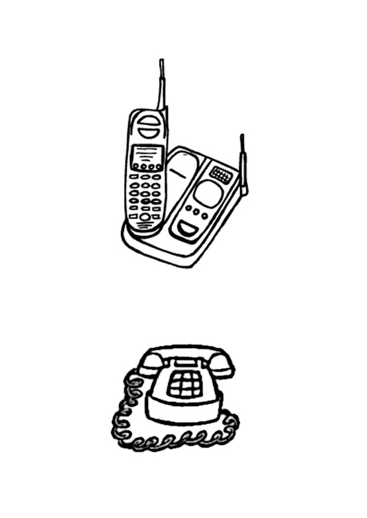 Coloriage telephones