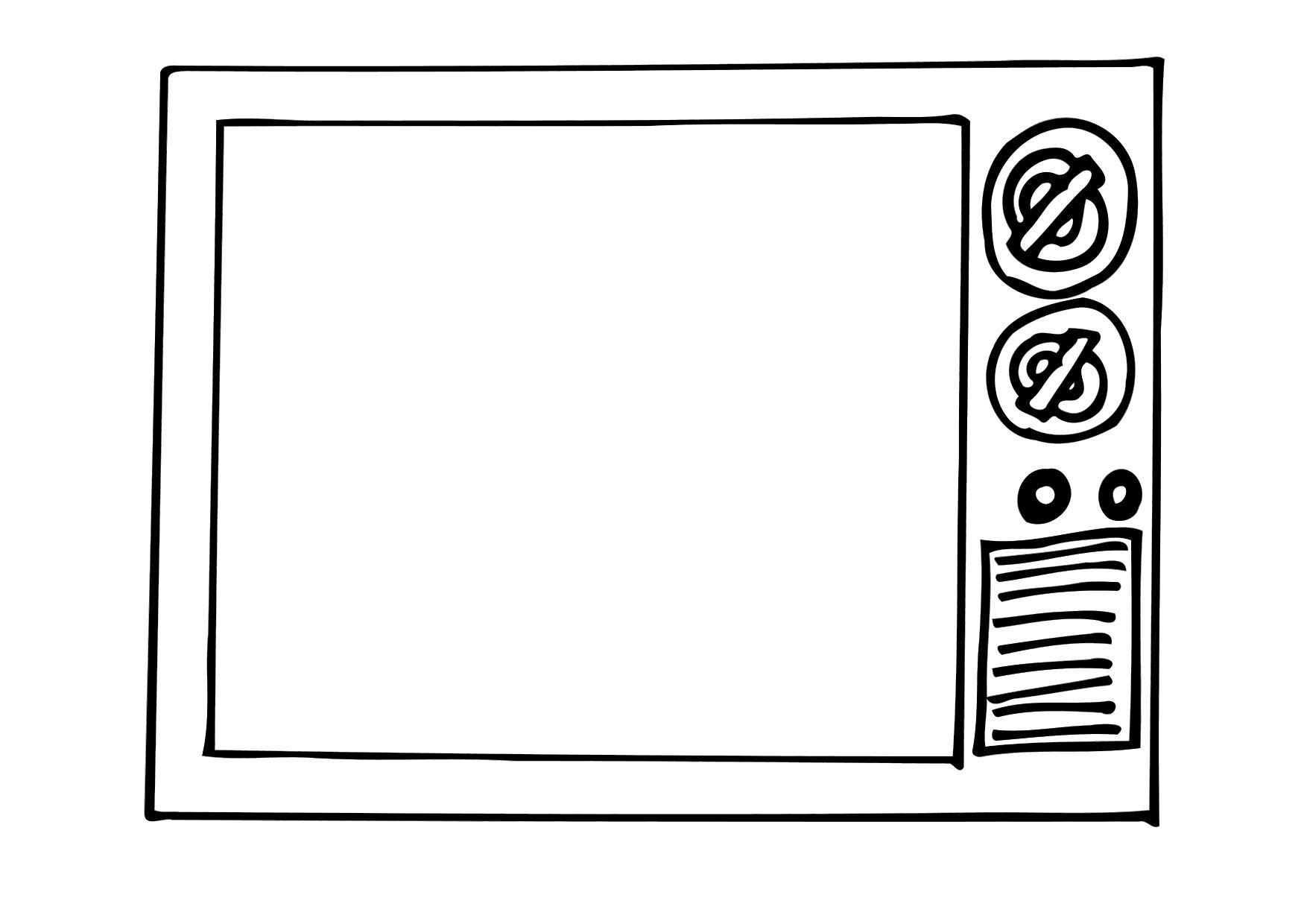 Coloriage t l vision img 12296 - Dessin television ...