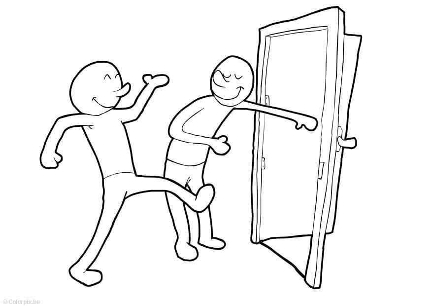 Coloriage tenir la porte ouverte img 15075 for Porte ouverte dessin