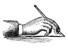 Coloriage tenir un stylo