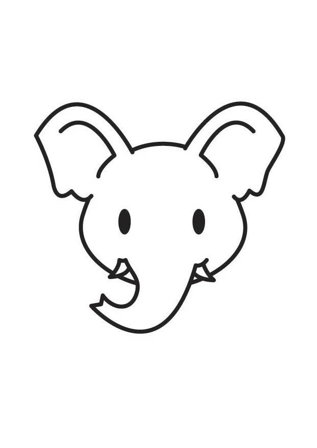 Coloriage t te d 39 l phant img 17860 - Tete elephant dessin ...