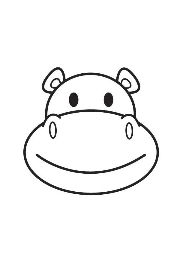 Coloriage t te d 39 hippopotame img 17800 - Tete elephant dessin ...