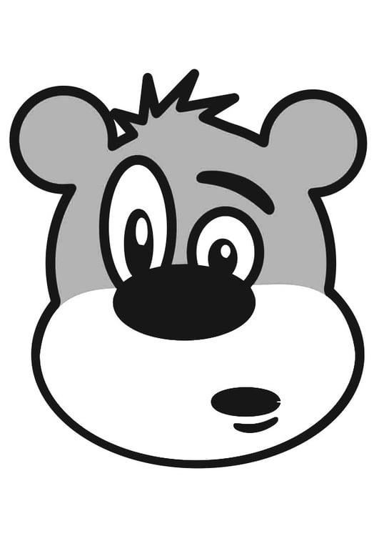 Coloriage tête d'ours - Coloriages Gratuits à Imprimer ...