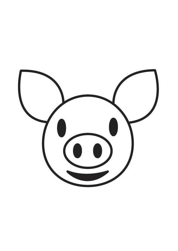 Coloriage t te de cochon img 17585 - Tete de cochon a colorier ...