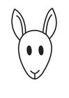 Coloriage Tête de kangourou