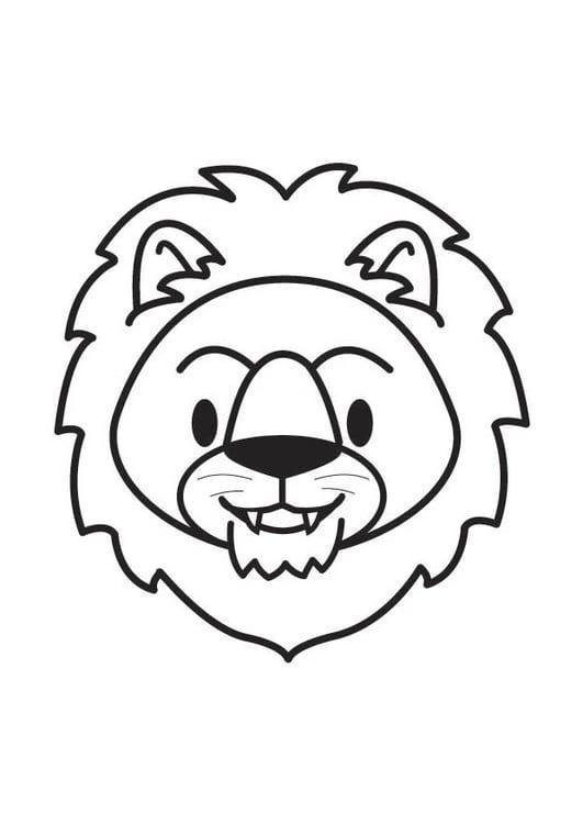 Coloriage T 234 Te De Lion Img 17901