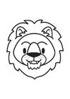 Coloriage Tête de lion