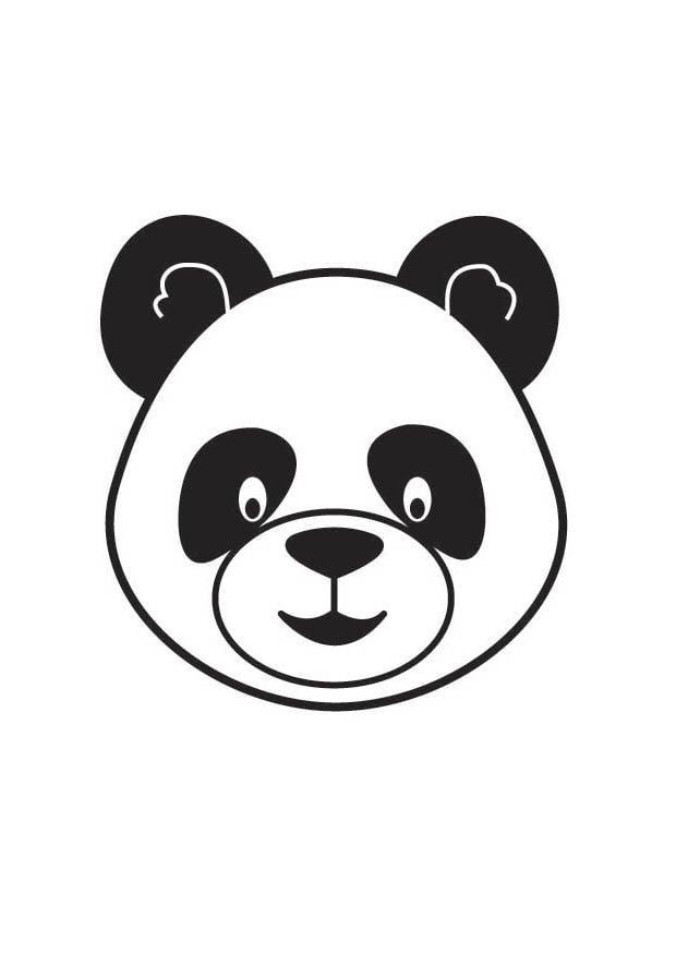 Coloriage t te de panda img 17861 - Coloriage de panda kawaii ...