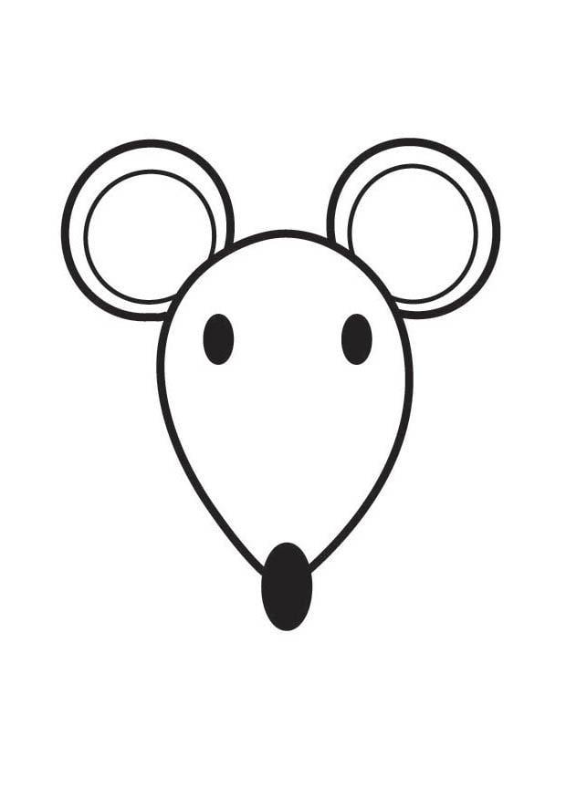 Coloriage t te de souris img 17561 - Coloriage petite souris ...