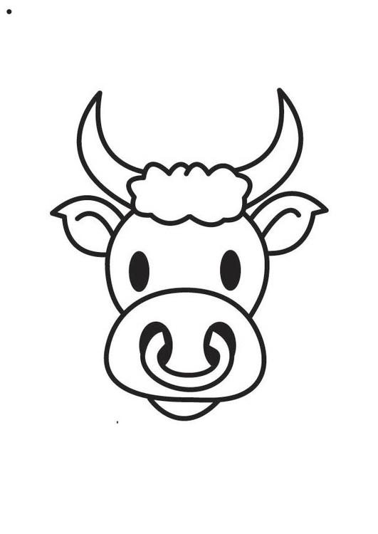 Coloriage t te de taureau img 17565 images - Dessin tete taureau ...