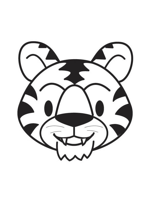 Coloriage t te de tigre img 17865 - Image tete de tigre ...