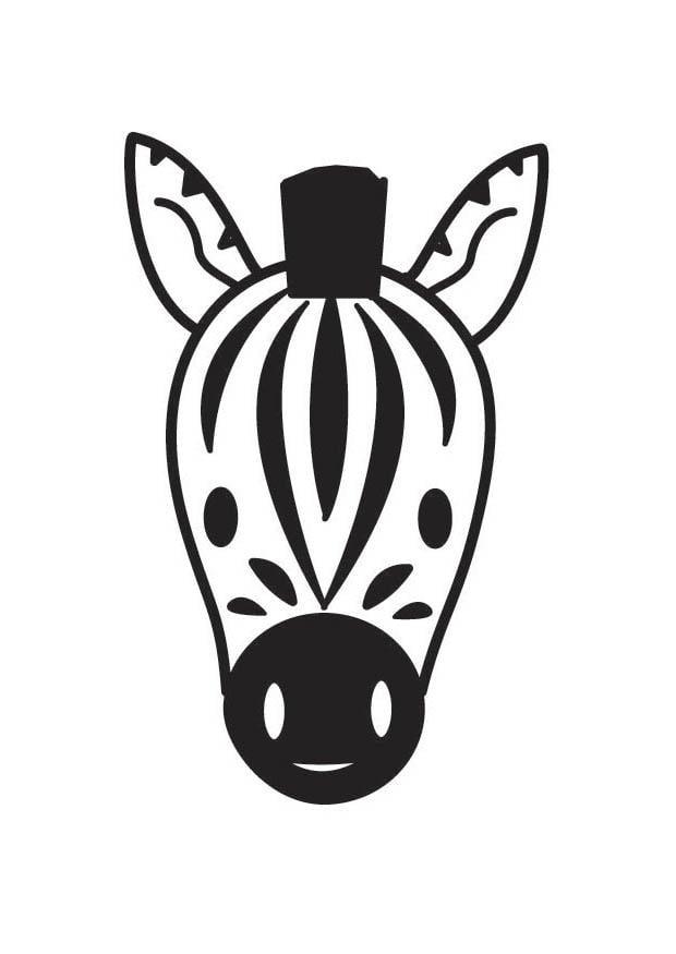 Coloriage t te de z bre img 17805 - Dessin zebre facile ...