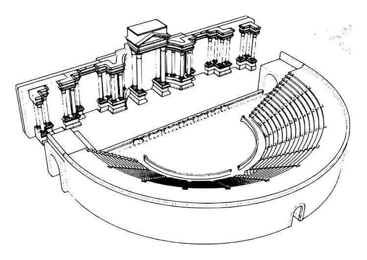 Coloriage th tre romain img 29746 - Dessin de theatre ...