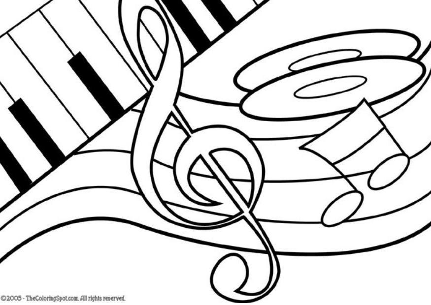 coloriage th me de musique note de musique img 5952. Black Bedroom Furniture Sets. Home Design Ideas