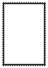Coloriage timbre rectangulaire