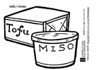 Coloriages tofu - miso