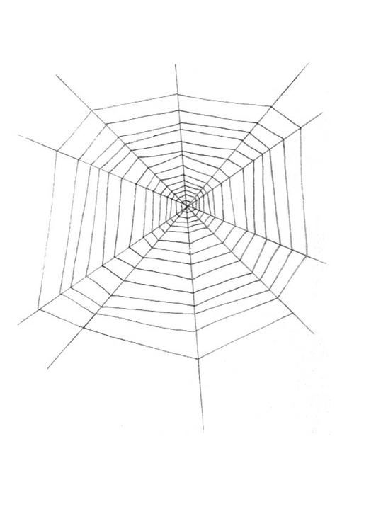 Coloriage toile d'araignée - Coloriages Gratuits à Imprimer