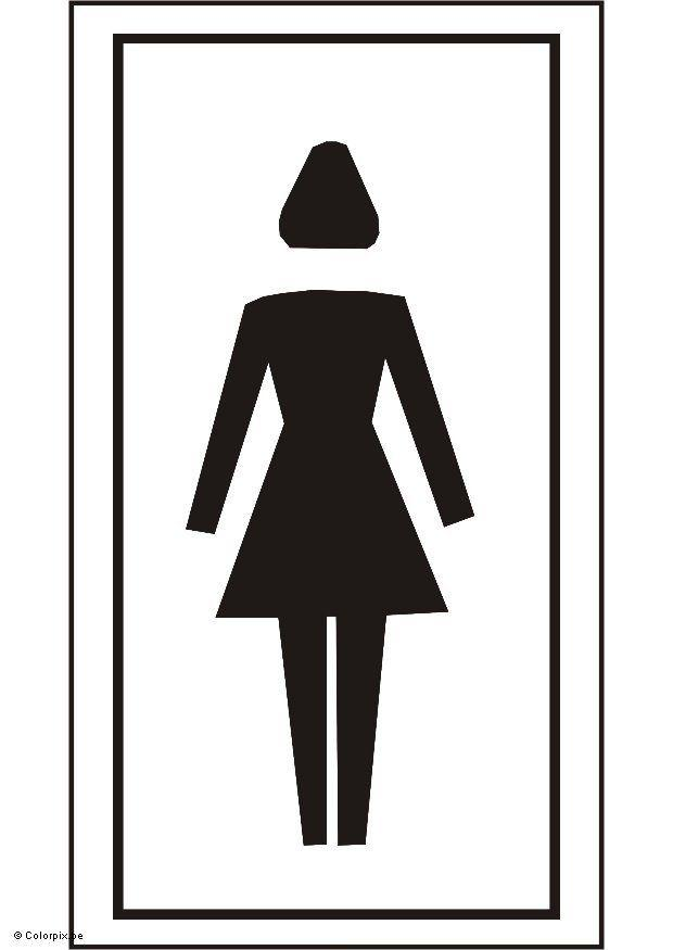 Coloriage toilettes filles  img 5429 -> Figura Banheiro Feminino
