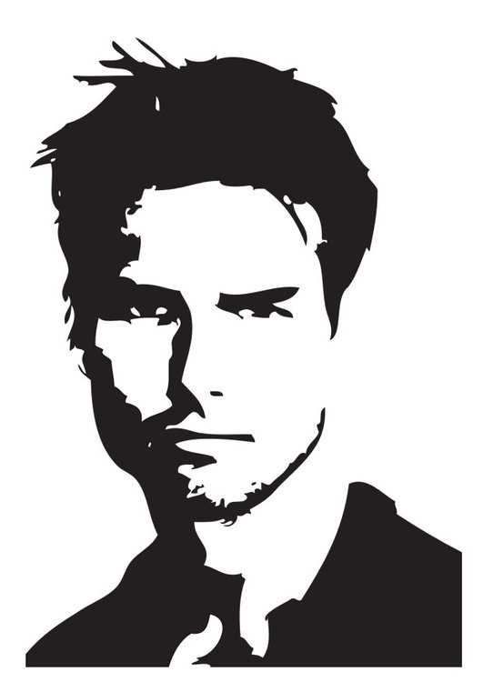 Coloriage Tom Cruise