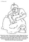Coloriage tonte des moutons
