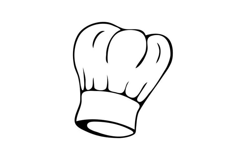 Coloriage toque de cuisinier img 18839 - Image toque cuisinier ...