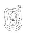 Coloriage tortue dans labyrinthe