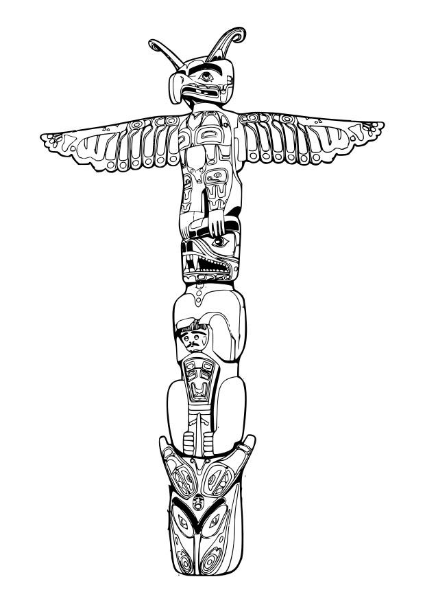 Coloriage Totem Img 29132