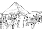 Coloriage tourisme - Egypte
