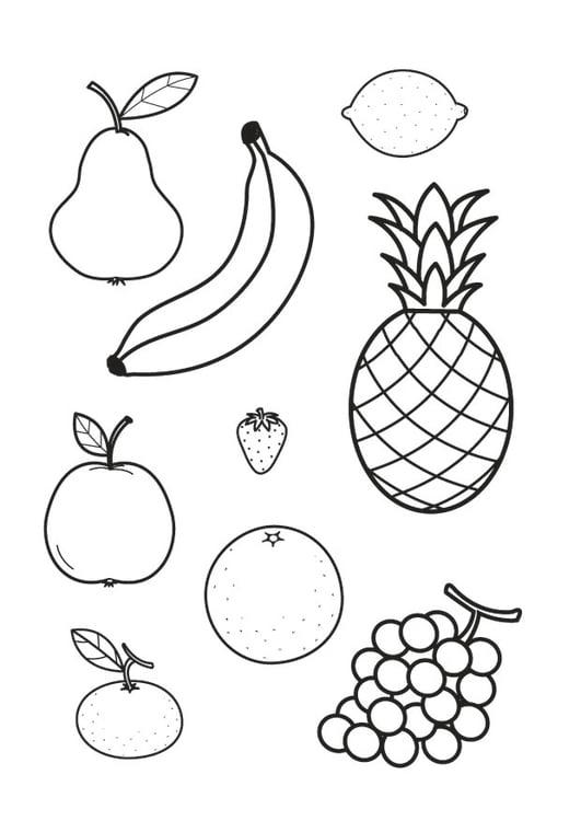 Coloriage toutes sortes de fruits img 23178 - Fruits coloriage ...
