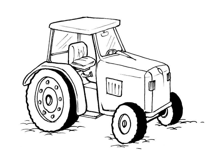 Coloriage Tracteur Img 10379