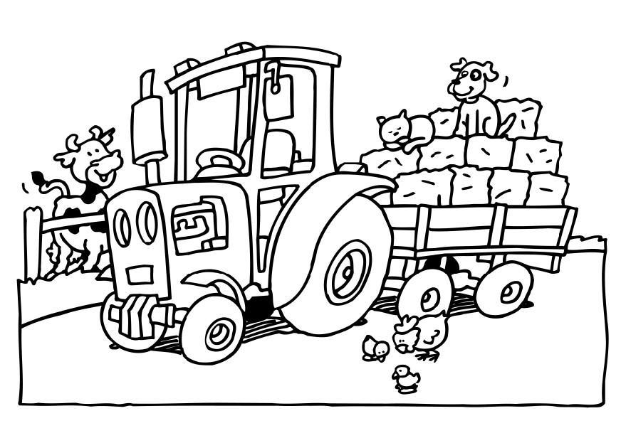 Coloriage tracteur img 8232 - Dessin d un tracteur ...