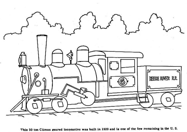 Coloriage Train A Vapeur Coloriages Gratuits A Imprimer
