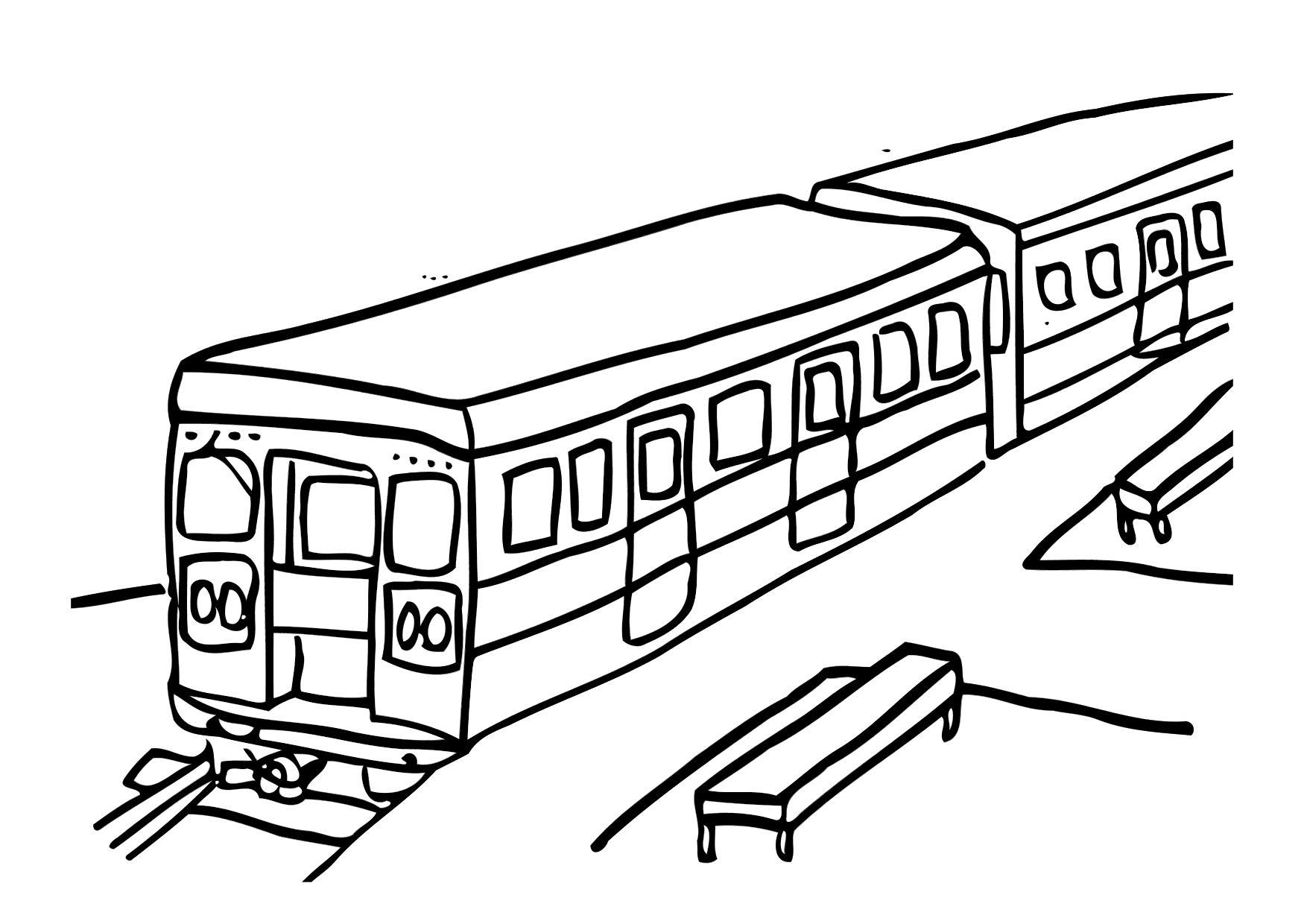 Coloriage train img 12303 - Train en dessin ...