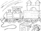 Coloriage train électrique