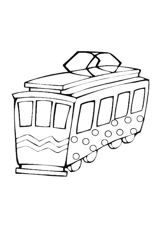 Coloriage tramway pour jouer img 10608 - Dessin tramway ...