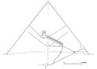 Coloriage tranche de la pyramide de Gizeh