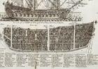 Coloriage tranche d'un navire de guerre trois mats