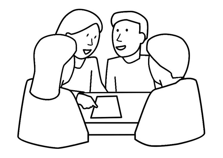 Travail de groupe en ligne