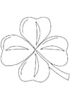 Coloriage trèfle Irlandais - Schamrock