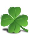 Image trèfle Irlandais - Shamrock