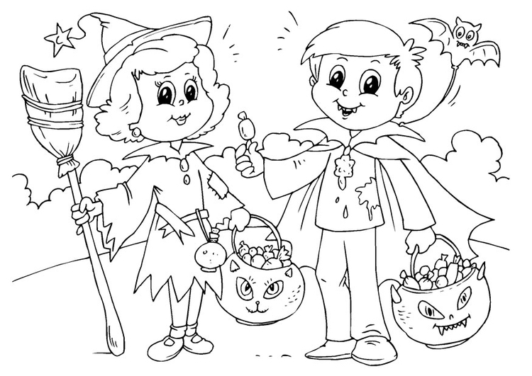 Coloriage trick of treat