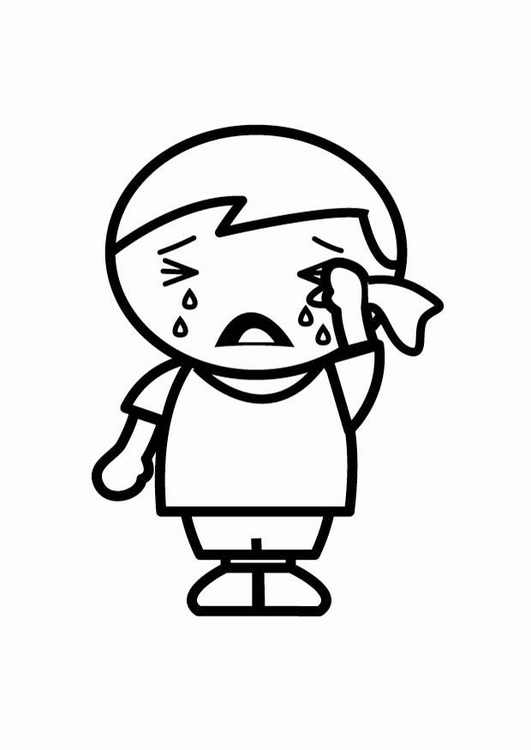 Coloriage triste img 24804 - Dessin triste ...